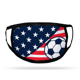 Soccer Adult Face Mask - USA Flag