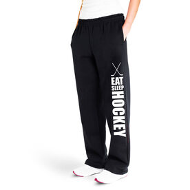 Hockey Fleece Sweatpants - Eat Sleep Hockey