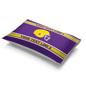 Football Pillowcase - Personalized Helmet