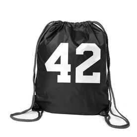 Personalized Cinch Sack - Team Number