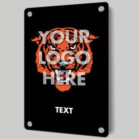 Personalized Metal Wall Art Panel - Custom Logo Vertical