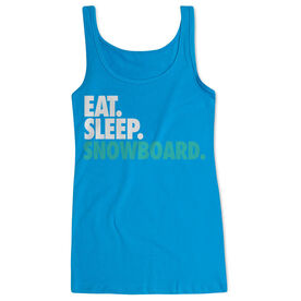 Skiing & Snowboarding Women's Athletic Tank Top Eat. Sleep. Snowboard.