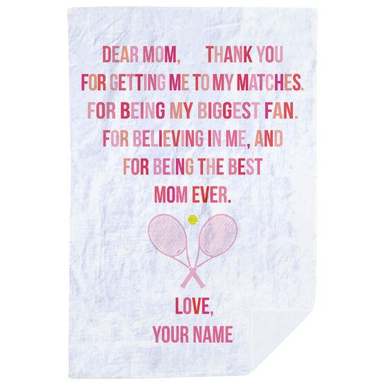 Tennis Premium Blanket - Dear Mom Heart