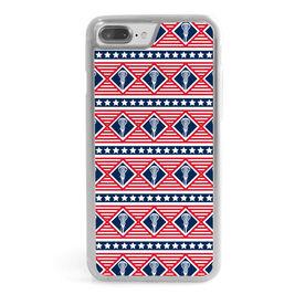 Girls Lacrosse iPhone® Case - Patriotic Lax Pattern