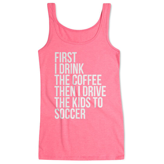 Soccer Women's Athletic Tank Top - Then I Drive The Kids To Soccer
