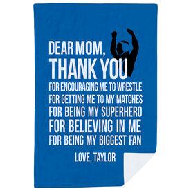 Wrestling Premium Blanket - Dear Mom