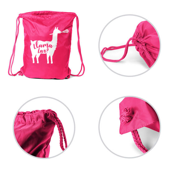 Girls Lacrosse Sport Pack Cinch Sack - Llama Lax
