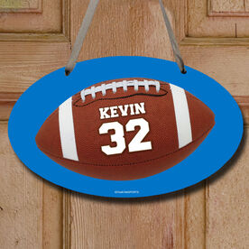 Football Oval Sign Personalized Football Photo