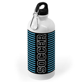 Soccer 20 oz. Stainless Steel Water Bottle - Word With Stripes