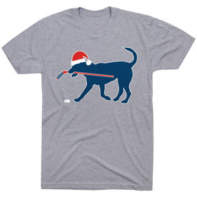 Hockey T-Shirt Short Sleeve Christmas Dog