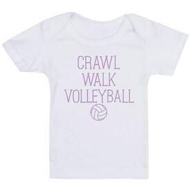 Volleyball Baby T-Shirt - Crawl Walk Volleyball