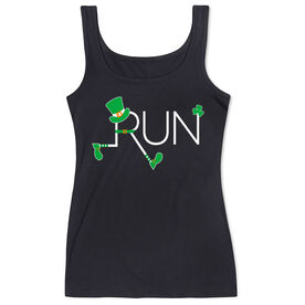 Running Women's Athletic Tank Top - Let's Run Lucky