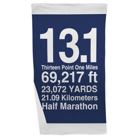Running Beach Towel 13.1 Math Miles