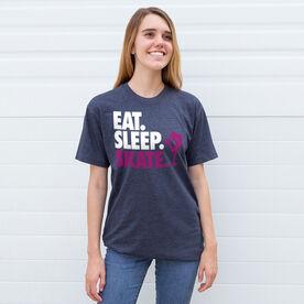 Figure Skating T-Shirt Short Sleeve Eat. Sleep. Skate.