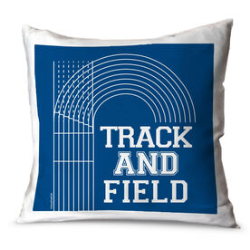 Track and Field Throw Pillow Track Track and Field Lanes