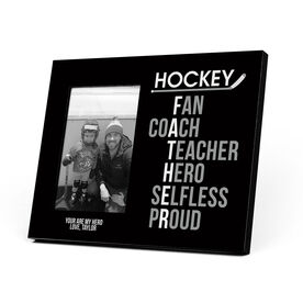Hockey Photo Frame - Hockey Father Words
