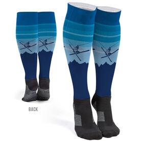 Skiing Printed Knee-High Socks - Airborne