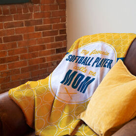 Softball Premium Blanket - My Favorite Player