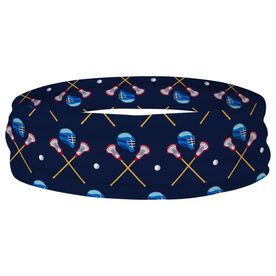 Guys Lacrosse Multifunctional Headwear - Crossed Sticks and Helmet Pattern RokBAND