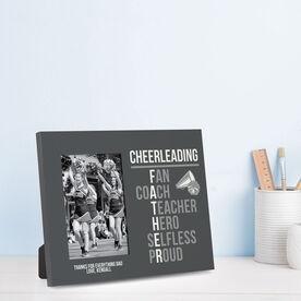 Cheerleading Photo Frame - Cheerleading Father Words