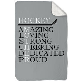 Hockey Sherpa Fleece Blanket - Mother Words