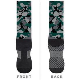 Baseball Printed Mid-Calf Socks - Camo