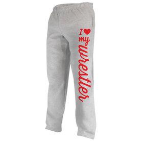 Wrestling Fleece Sweatpants I Heart My Wrestler