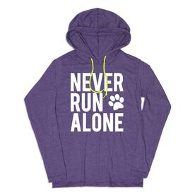 Women's Running Lightweight Hoodie - Never Run Alone (Bold)