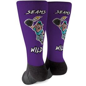 Seams Wild Baseball Printed Mid-Calf Socks - Pete Slop