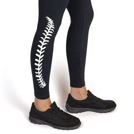 Softball Leggings - Softball Stitches