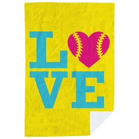 Softball Premium Blanket - Love