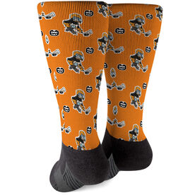 Seams Wild Hockey Printed Mid-Calf Socks - Chinstrap (Pattern)