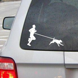 Runner Guy with Dog Vinyl RUNNERDecal