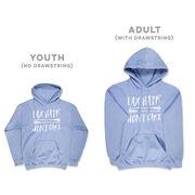 Girls Lacrosse Hooded Sweatshirt - Lax Hair Don't Care