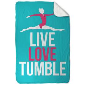 Gymnastics Sherpa Fleece Blanket - Live Love Tumble
