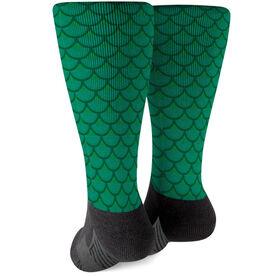 Printed Mid-Calf Socks - Mermaid Scales