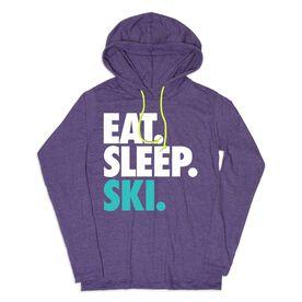 Women's Skiing Lightweight Hoodie - Eat Sleep Ski