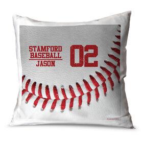 Baseball Throw Pillow Vintage Team Ball
