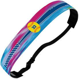 Softball Juliband No-Slip Headband - Personalized Tie-Dye Bat And Ball