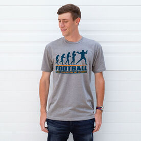 Football Tshirt Short Sleeve Football Evolution