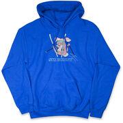 Skiing Hooded Sweatshirt - Ski Bunny