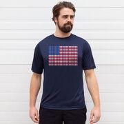 Baseball Short Sleeve Performance Tee - Patriotic Baseball