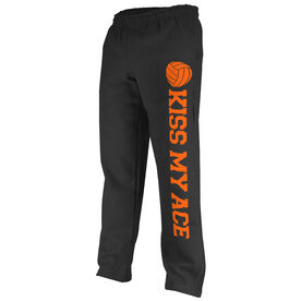 Volleyball Fleece Sweatpants Kiss My Ace with Volleyball