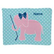 Hockey Baby Blanket - Hockey Elephant with Bow