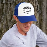 Field Hockey Trucker Hat - Team Name Coach With Curved Text