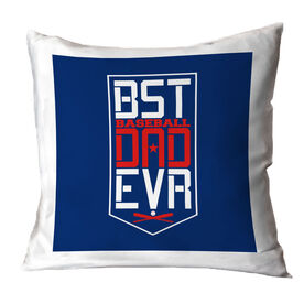 Baseball Throw Pillow - Best Dad Ever Shield