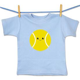 Tennis Baby T-Shirt Mini Tennis Ball Smile (Boy)
