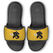 Hockey Repwell® Slide Sandals - Goalie with Number