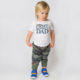 Baseball Baby T-Shirt - I Love My Baseball Dad