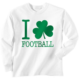Football Tshirt Long Sleeve I Shamrock Football